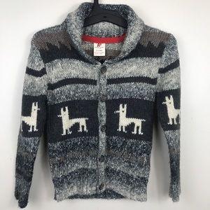 American Outfitters Llama Boys Cardigan Sweater